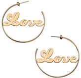 Jennifer Zeuner Jewelry Blair 14K Goldplated Sterling Silver Love Hoop Earrings