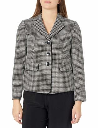 Kasper Women's Plaid Tweed Three Button Jacket