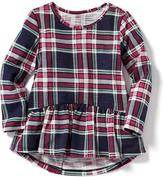 Old Navy Plaid Peplum-Hem Tunic for Toddler