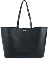 Saint Laurent Leather Tote - Black
