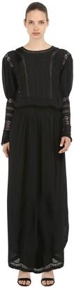 Viscose Long Dress W/ Lace Details