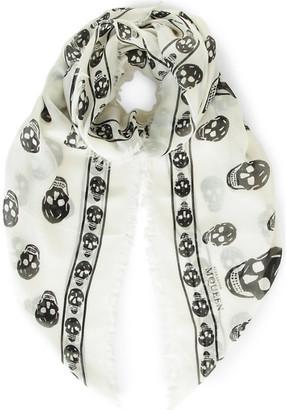 Alexander McQueen Skull-print modal and cashmere-blend pashmina