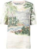 Stella McCartney Landscape T-shirt - women - Cotton/Polyester/Viscose - 42