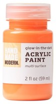 Hand Made Modern - 2oz Acrylic Paint - Glow in the Dark - Clementine