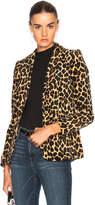 Frame Velvet Cheetah Classic Blazer