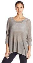 Blanc Noir Women's Drape Mesh Sweater