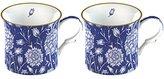 V&A Creative Tops 2-Piece Fine Bone China William Morris Wild Tulip Mugs - Blue