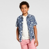 Cat & Jack Boys' Short Sleeve Button Down Shirt Cat & Jack - Chambray