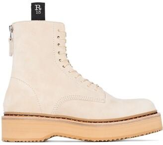 R 13 Platform Lace-Up Boots