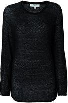 IRO sheer longsleeved T-shirt - women - Polyamide/Alpaca - M