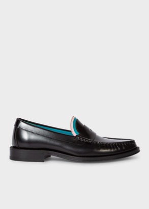Paul Smith Women's Black Leather 'Lewin' Loafers