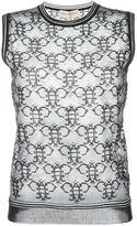 Emilio Pucci sheer logo tank top - women - Polyamide/Polyester/Viscose - XS