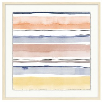Pottery Barn Rebecca Atwood Watercolor Striped Framed Print