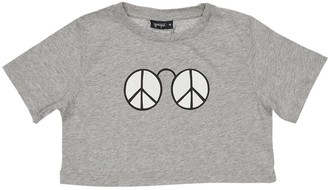 Yporqué Peace Solar Cropped T-shirt