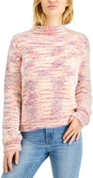 Hooked Up by IOT Juniors' Space-Dye Mock-Neck Sweater