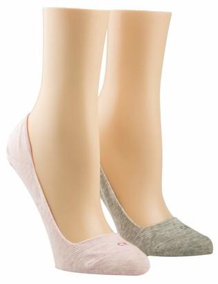 Calvin Klein Women's Liner 2p Logo Hailey Socks