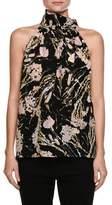 No.21 No. 21 Multicolored Printed Sleeveless Silk Blouse