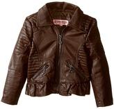 Urban Republic Kids Distressed Faux Leather Jacket (Toddler)