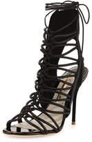 Sophia Webster Lacey Lace-Up Gladiator Sandal, Black