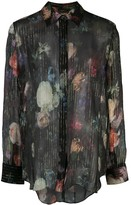 ADAM by Adam Lippes floral print sheer shirt