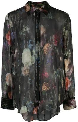 Adam Lippes Floral Print Sheer Shirt