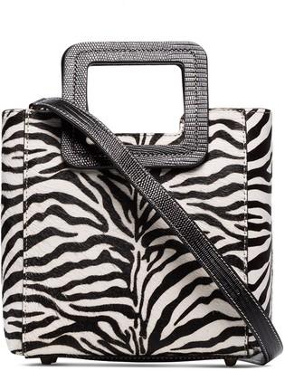 STAUD mini Shirley zebra print tote