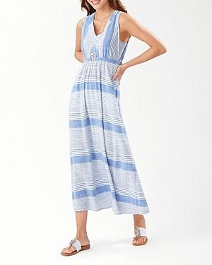 Tommy Bahama Lucia Isle Striped Maxi Dress