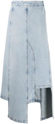 Ssheena Bleached Denim Skirt