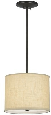 "Tiffany & Co. Meyda Cilindro Textrene 1-Light Single Drum Pendant Meyda Size: 122"" H x 14"" W x 14"" D"