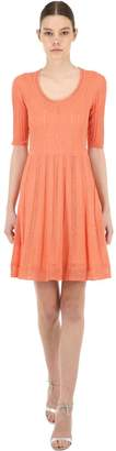 M Missoni Short Sleeve Wool Blend Knit Dress