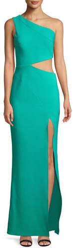 Maria Bianca Nero Cameron One-Shoulder Dress w/ Cutout