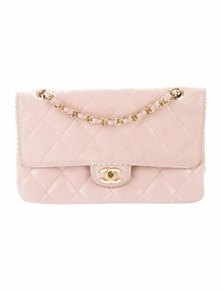 Chanel Medium Quilted Single Flap Bag pink