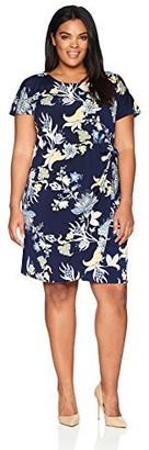 Robbie Bee Plus Size Womens Short Sleeve Sarong Dress
