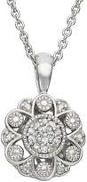 Simply Vera Vera Wang Sterling Silver Diamond Accent Flower Pendant
