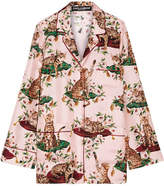 Dolce & Gabbana Printed Silk-twill Shirt - Pastel pink