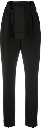 Sara Battaglia High-Waisted Tapered Trousers