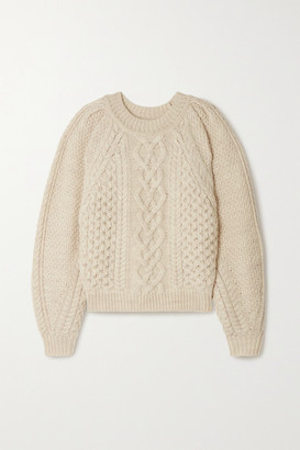 Etoile Isabel Marant Romy Cable-knit Wool Sweater - Ecru