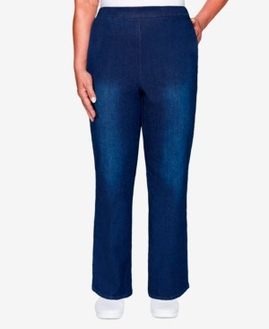 Alfred Dunner Women's Missy Denim Friendly Proportioned Medium Pant