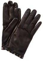 Valentino Rolling Rockstud Noir Leather Gloves.
