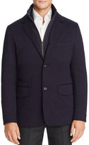 Cardinal Twill Channel Quilted Jacket with Removable Bib