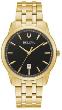 Bulova Men's Classic Sutton Gold-Tone Stainless Steel Bracelet Watch 40mm