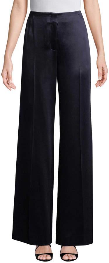 Diane von Furstenberg Women's Satin Wide Leg Pant