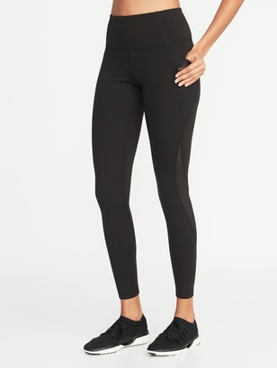 Old Navy High-Waisted Elevate Side-Pocket Mesh-Trim Compression Leggings For Women