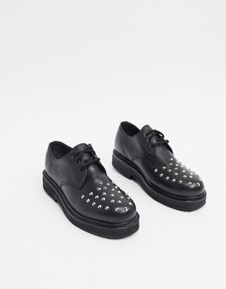 Bolongaro Trevor studded leather derby shoes