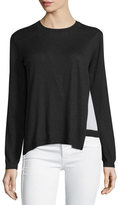 Yigal Azrouel Layered Crewneck Sweater, Jet/Multi
