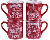Certified International Geoffrey Allen Christmas 4-pc. Mug Set
