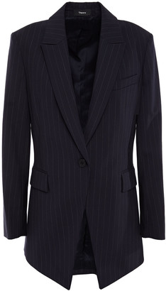 Theory Pinstriped Wool-blend Blazer