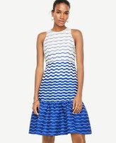 Ann Taylor Blurred Stripe Flare Dress