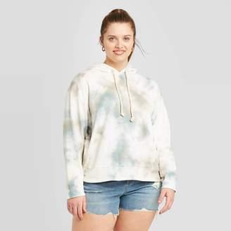 Universal Thread Women's Plus Size Crewneck Tie-Dye Hoodie Sweatshirt - Universal ThreadTM Blue
