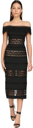 ZUHAIR MURAD Lace & Cady Midi Dress